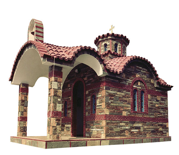 Βυζαντινός Ναός Επενδυμένος με Στενάρι - 804
