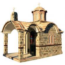 Πεπαλαιωμένος Βυζαντινός Ναός - 805