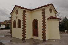 Εκκλησία στο Σουφλί Εύρου, κατασκευασμένη από την Batzolis Θυρεός Stone